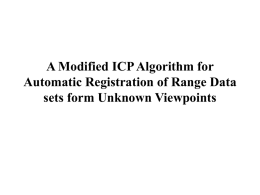 A Modified ICP Algorithm for Automatic Registration of