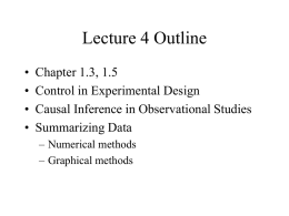 Lecture 4 Outline - University of Pennsylvania