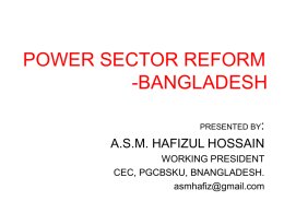 POWER SECTOR REFORM