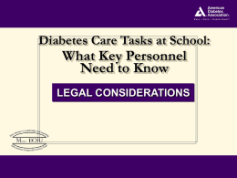 Diabetes Management in Schools: Supporting Student Success