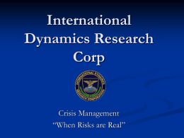 International Dynamics Research Corp