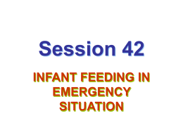 Optimal Infant and Young Child Feeding