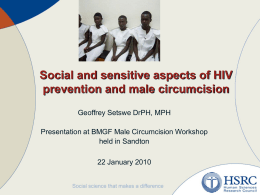 Social Science Perspectives on Male Circumcision for HIV