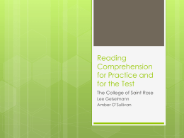 Reading Comprehension Practice Strategies
