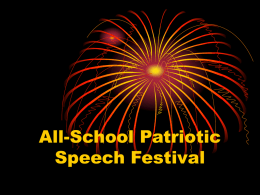 All-School Patriotic Speech Festival