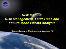 Risk Module - Space Systems Engineering