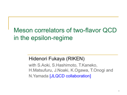 Meson correlators of two-flavor QCD in theε