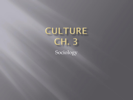 Culture Ch. 3 - Kentucky Department of Education