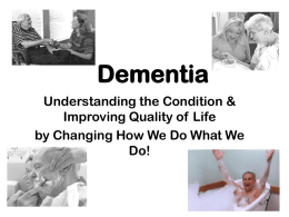 What is Dementia? - Chatham Council on Aging