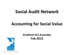 Introduction to the Social Audit Network and ILM Endorsed