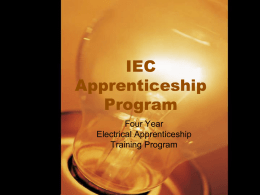 KECA/IEC Apprenticeship Program