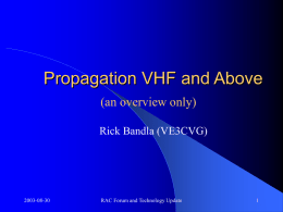 Propagation VHF and Above