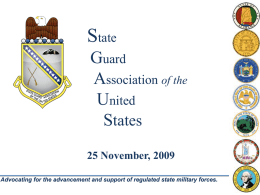 SGAUS Overview Brief - State Guard Association of the