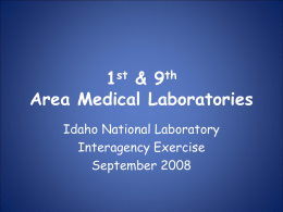 Idaho National Laboratory Interagency Exercise