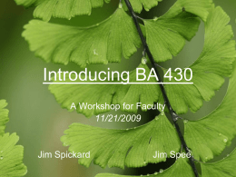Introducing BA 490 - University of Redlands