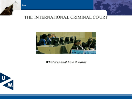 International Criminal Law: Courts & Tribunals