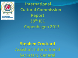 Report to the 36th IEC Paris 2010