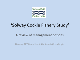 Project Inshore' - Solway Firth Partnership
