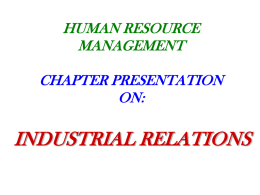 HUMAN RESOURCE MANAGEMENT CHAPTER PRESENTATION ON…