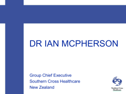 The role of private health insurance in New Zealand Health