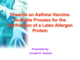 Towards an Asthma Vaccine: Scalable Process for the