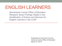English Learners - Ventura County Special Education