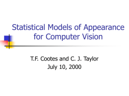 Statistical Models of Appearance for Computer Vision
