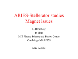 ARIES-Stellerator studies Magnet issues