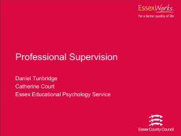 Professional Supervision - Home