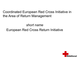 Coordinated European Red Cross Initiative in the Area of