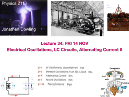 Lecture 17 - Louisiana State University Physics & Astronomy