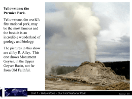 Unit 1 - Yellowstone - e