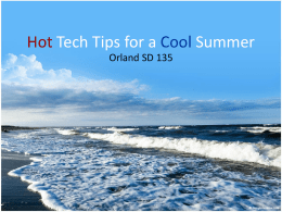 Hot Tech Tips for a Cool Summer