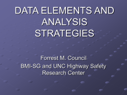 DATA ELEMENTS AND ANALYSIS STRATEGIES
