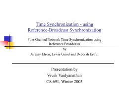 Time Synchronization - Western Michigan University