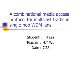 A combinational media access protocol for multicast