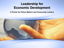 Managing Economic Development Organizations