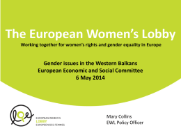 The European Women's Lobby Working together for women's