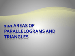 11.1 Areas of rectangles