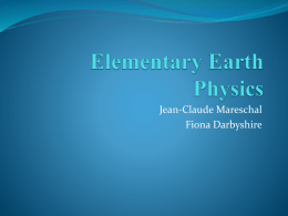 Elementary Earth Physics