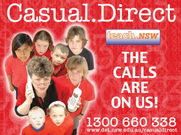 Casual. Direct (Casual Teacher Staffing)