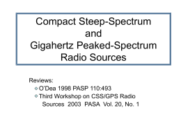 Compact Steep-Spectrum and Gigahertz Peaked