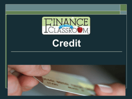 Credit PPT - Finance in the Classroom