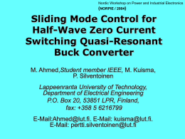 Sliding Mode Control for Half-Wave Zero Current Switching