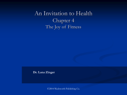 An Invitation to Health Chapter 3 Personal Stress Management