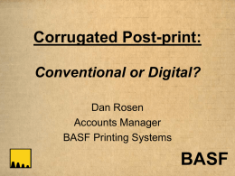Corrugated Post-print: Conventional or Digital?
