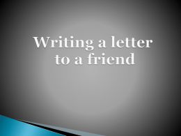 Writing a letter to a friend