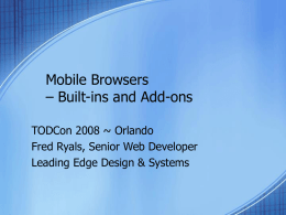 Mobile Browsers Built-ins and Add-ons