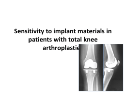 Sensitivity to implant materials in patients with total