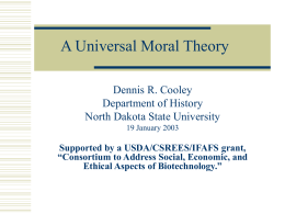 A Universal Theory of Ethics